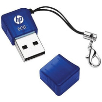 Pendrive Usb 8gb V165w P-fd8gbhp165-gel Azul Hp