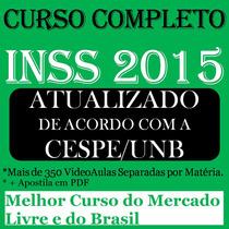 Curso Completo Do Inss Cespe 2016 - Dvds Frete Gratis Brasil