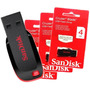 Pen Drive 16gb Usb Sandisk Cruzer Blade- Lacrado - C/ Nf