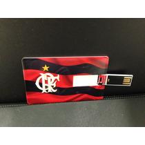 Pen Drive Modelo Cartão De Crédito - Flamengo - 4g - Oficial