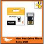 Mini Pen Drive Micro Sony Microvault 2gb, Original - Frete 5