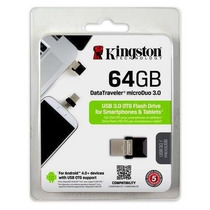 Pen Drive 3.0 E Micro Usb Kingston Dt Micro Duo Dtduo3/64gb