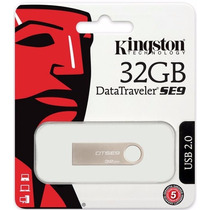 Pen Drive 32gb Kingston 100% Original Embalagem Lacrada