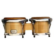 Ny Percussion Bongo De Maple Com Pele Animal - Frete Grátis