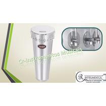 Timbal De Alumínio 70x14 16afinações Pele Leitosa C/ Suporte