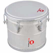 Repique De Mão Music!nstrumento Alumínio 30x12 Pele Leitosa