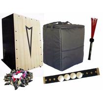 Cajón Pithy Standard 2captaçãoes Bag Vassourinha Canela Unha