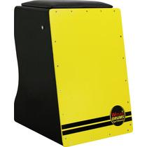 Cajón Inclinado Captação Dupla Amarelo Elétrico-acústico