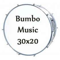 Bumbo Fuzileiro Music Aluminio 30x20 Novo Original Nfe