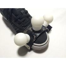 Foot Shaker Rígido Para Pé 3 Shakers Cajon Chocalho Ganza