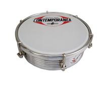 Tamborim Contemporanea 429c Alumínio Frisado 6 Pele Nylon C