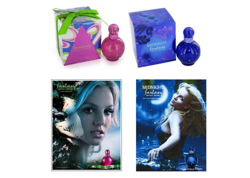 Perfume Fantasy Britney- Rosa Ou Midnigth-made In Usa-100 Ml