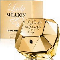 Perfume Lady Million 80ml Edp Paco Rabanne Original Lacrado