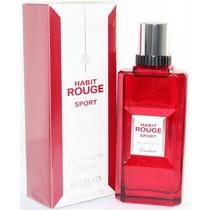 Perfume Habit Rouge Sport Guerlain Eau Toilette Masc. 100ml