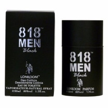 Perfume Lonkoom 818 Men Black Edt Masculino 100 Ml