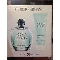 Perfume Acqua Di Gioia 100 Ml Edp + Body 75 Ml- Original