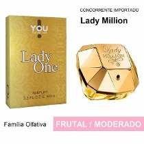 Perfume Lady One - Lady Million Feminino Inspiração 100m