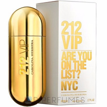 Perfume 212 Vip Fem Carolina Herrera 80ml Original Lacrado