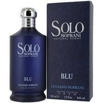 Perfume Solo Blu Luciano Soprani For Women And Men 100ml Edt