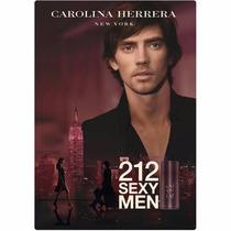 Perfume Carolina Herrera 212 Sexy Men 100ml Lacrado + Brinde