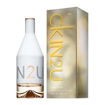 Perfume Ckin2u Feminino 100ml+brinde Amostra Eternity Aqua