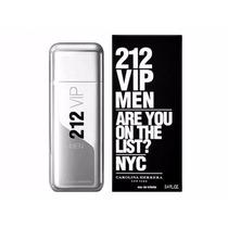 Perfume 212 Vip Men 100ml Ch-usa Só Aqui+2amostras De Brinde