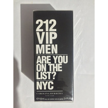 212 Vip Men 100 Ml Carolina Herrera Masculino Original E.u.a