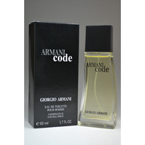 Perfume Armani Code Masculino 50ml Giorge Armani + Lacrado