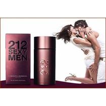 Perfume Lacrado Carolina Herrera 212 Sexy Men 100ml + Brinde