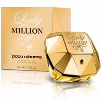 Perfume Lady Million 80ml Paco Rabanne Edp 100% Original