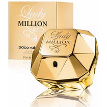 Perfume Lady Million 80ml Paco Rabanne Fem Eau De Parfum