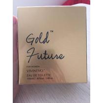 Perfume Gold Future 100 Ml Feminino Edt Inspiração 212 Sexy
