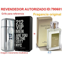 Perfume Hinode Traduções Gold 62 Fragancia 212 Vip Men 100ml