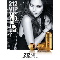 Perfume 212 Vip Edp Fem. 80ml Carolina Herrera - Original