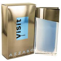 Perfume Masculino Francês Visit By Azzaro 100ml Lacrado Novo