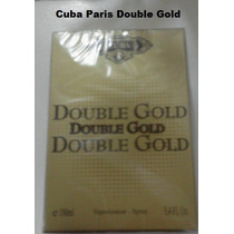 Perfume Double Gold 100 Ml Edp Cuba Paris Frete Gratis
