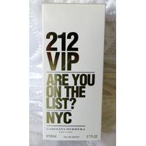 Perfume 212 Vip Feminino 80 Ml - Edp - Original E Lacrado -