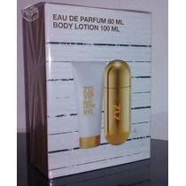 Perfume Kit 212 Vip Feminino 80 Ml + Body Lotion 100 Ml