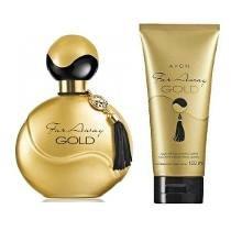 Kit Avon Far Away Gold Colônia 50ml + Loção Perfumada 150ml