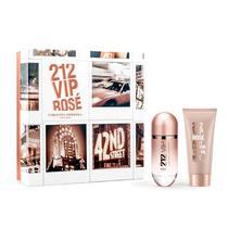 Kit Carolina Herrera 212 Vip Rose Fem Parfum 80ml + Lotion