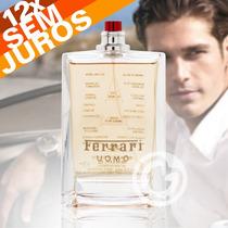 Perfume Masculino Ferrari Uomo Tester 100ml Edt - Original
