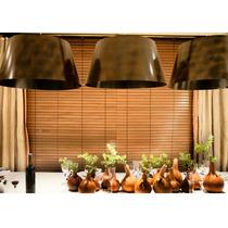 Persiana De Madeira Natural R$295,00 M2 Várias Cores Madeira