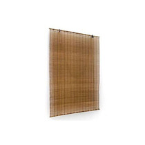 Cortina Persiana Roller Bamboo Bambu 160 X 160 Cm Café