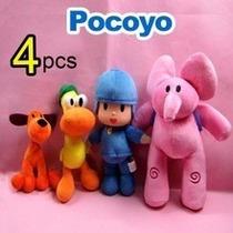 Pocoyo, Kit Com 4 Bonecos,importado 30 Cm,frete Grátis