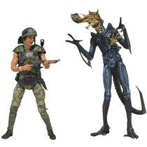 Helmeted Hicks Vs. Battle Damaged Warrior Two-pack Aliens