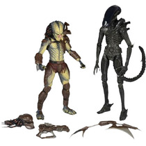 Alien Vs Predador (2 Pack) Com Mini Comic - Neca