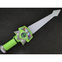 01 Espada Ben 10 Luz Piscante E 03 Sons De Batalha 37 Cm