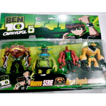 Kit Ben 10 Com 4 Personagens Aliens Bonecos Miniaturas Ben10
