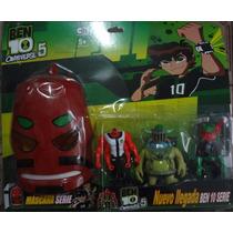 Kit Com 3 Bonecos Ben 10 + Máscara Alien Quatro Braços