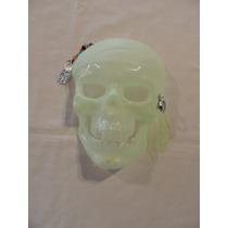 Máscara Caveira Piratas Do Caribe -brilha N Escuro-kit 10und
